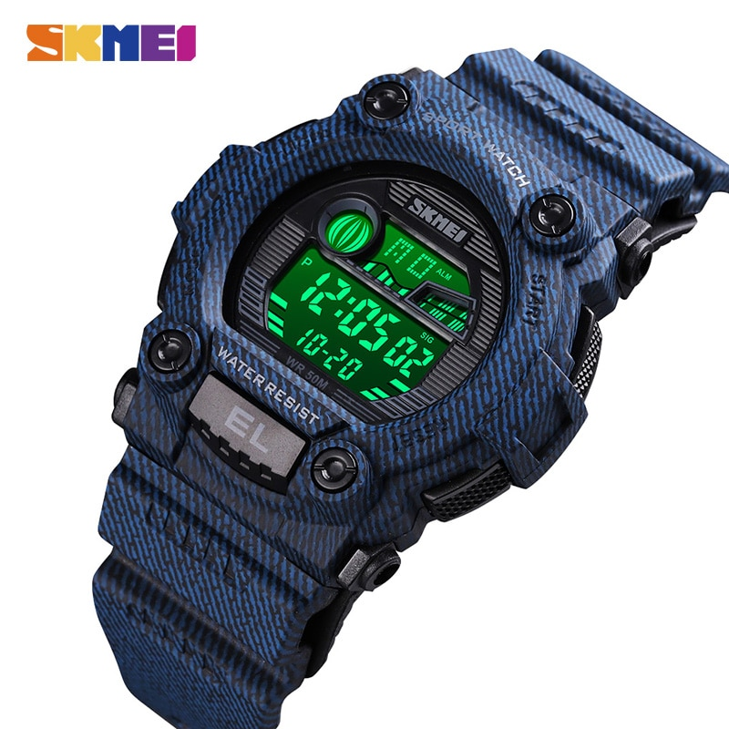 SKMEI Fashion Women Electronic Clock Ladies Digital Wristwatches Stopwatch Calendar Alarm Sports Watches Relogio Feminino 1635 enlarge