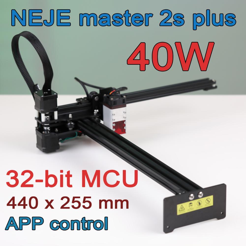 """255 x 440 mm profesionali lazerinio graviravimo mašina, lazerinis pjaustytuvas - """"Bluetooth"""" - programos valdymas"""