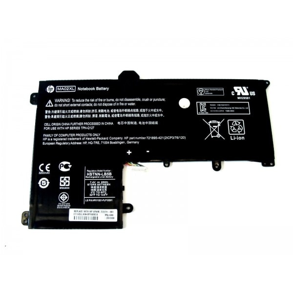 Genuine Substituição Slatebook 10 x2 721895-2c1 Hstnn-ib5b Ma02xl 25wh Bateria Ugb hp