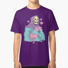 Camiseta de Skeletor con diseño de gato, camiseta con diseño de Vector, Skeletor, Heman, amor, tigre divertido, Grayskull