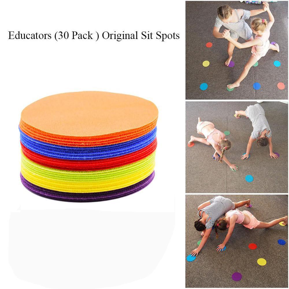 1 Set Kids' Early Education Toy Carpet Mark Magic Carpet Positioning Magic Color Round Mark Children Training Supplies