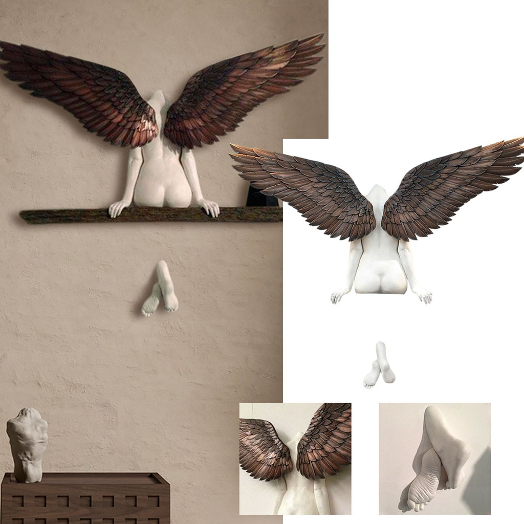 Angel Art Sculpture Wall Funny Toy Home Decoration Holy Spirit Beautiful Art Sculpture Living Room B