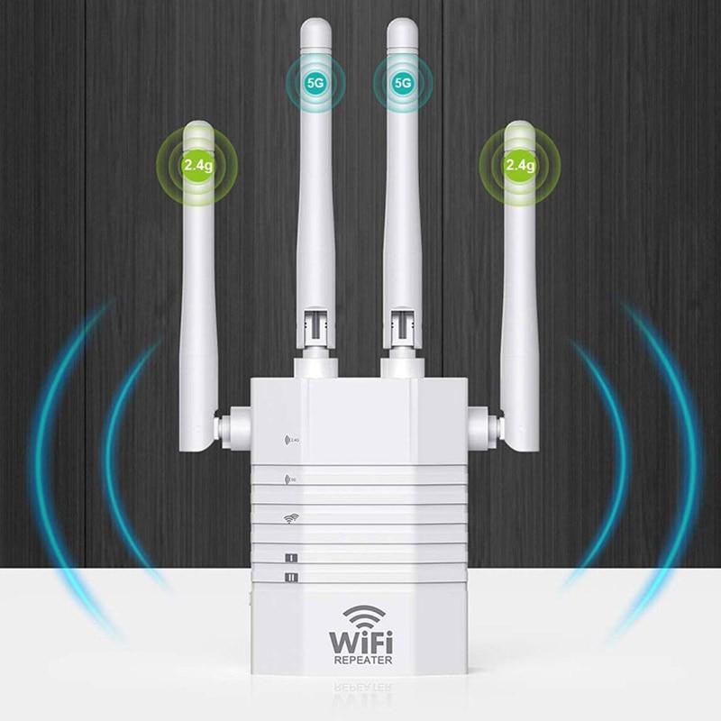 Repetidor WiFi AC1200 de 5Ghz, extensor de red inalámbrica, amplificador Wifi 802.11N,...