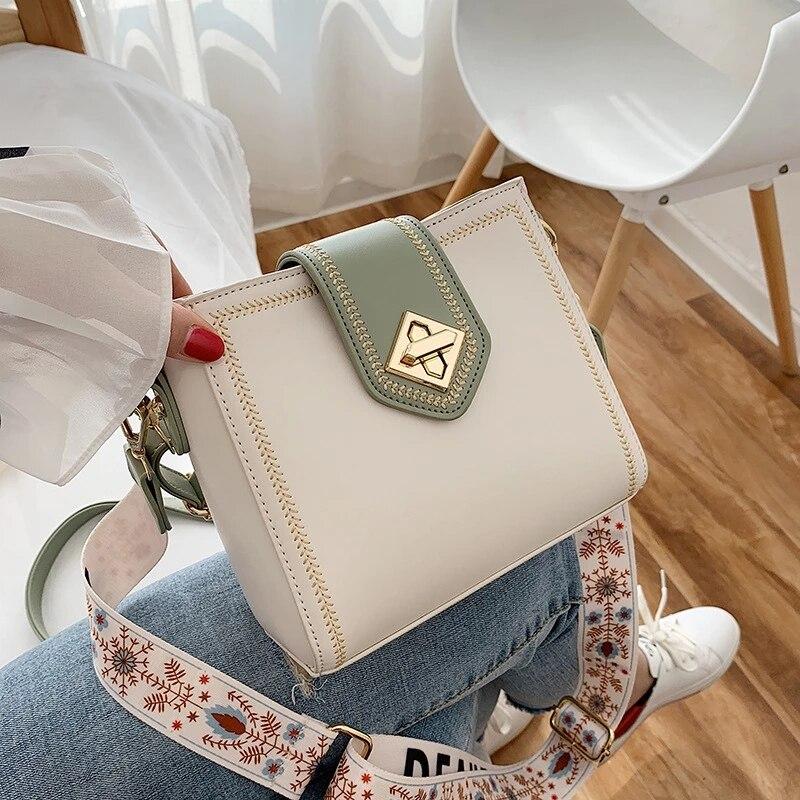 Модная женская сумка-мешок, женская маленькая сумка через плечо с широким ремешком, женская сумка-мессенджер, Женская дорожная сумка, женск...