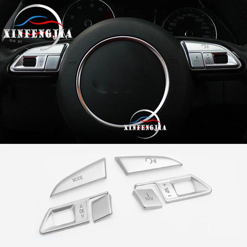 Boutons de volant, Chrome ABS, garniture de volant, pour Audi A4 B8 A5 Q5 13-16 6 pièces
