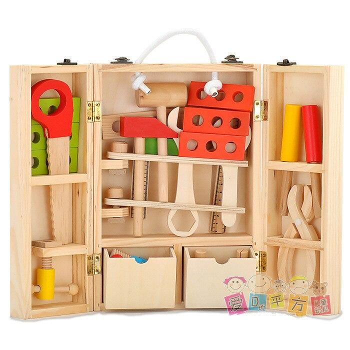 Caja de reparación de simulación para niños divertido juguete para jugar a las casitas desmontaje multifuncional caja de carpintería herramienta Kit de reparación regalo