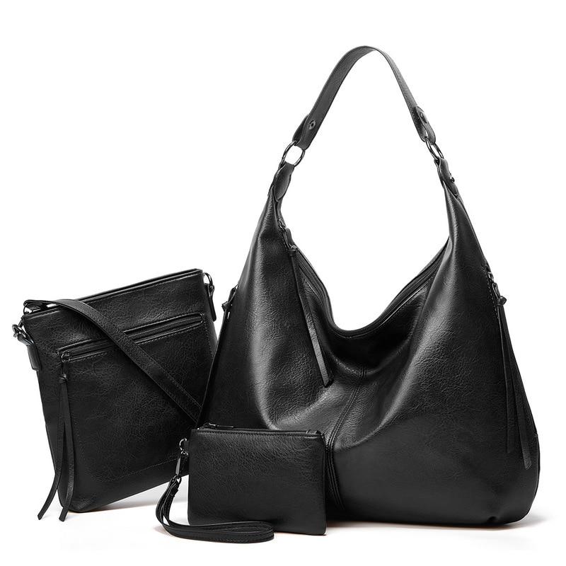 2021 جديد إمرأة بولي Leather جلد مركب حقيبة الإناث حقائب اليد والمحافظ مع تصميم جيد الابن حقيبة الأم سعة كبيرة أكياس التسوق