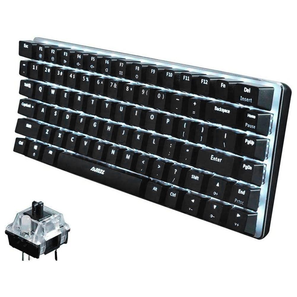 AK33 82 Keys Game Keyboard USB Wired LED Backlight Ergonomic Gaming Mechanical Keyboard for Computer PC Desktop