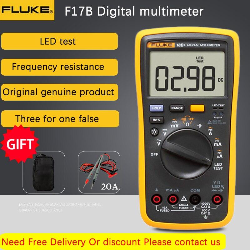 فلوك-18B LED جهاز اختبار رقمي متعدد الجهد ، تيار متردد/تيار مستمر ، اختبار السعة ومقاومة الجهد