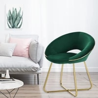 lue bona armless accent chair modern upholstered dining chairs vanity chair makeup stool for living room bedroom home office