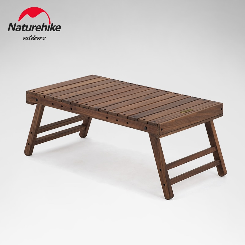 Naturehike-mesa plegable de madera para acampar, barbacoa familiar, Picnic, mesa pequeña portátil...
