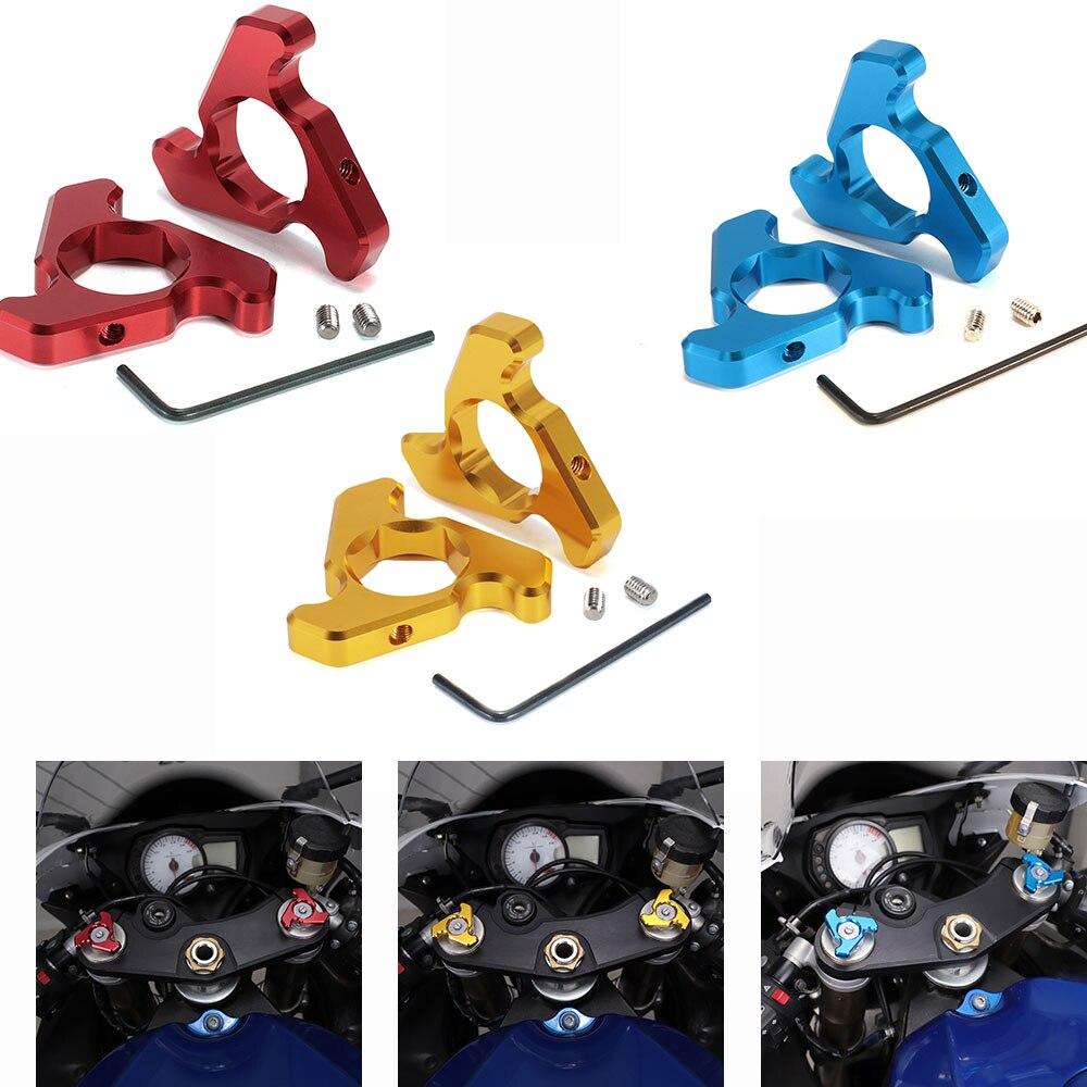 Accesorios de motocicleta, montacargas de suspensión, ajustadores de precarga para uso en modelos, tornillo de horquilla delantera, diámetro de 22mm