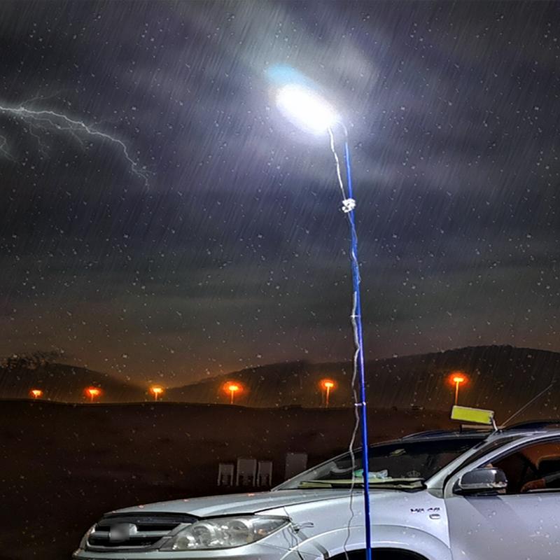 Portable led flood light 12V outdoors travel Camping Light Tent Lights 4M telescopic rod work light Lantern rechargeable enlarge