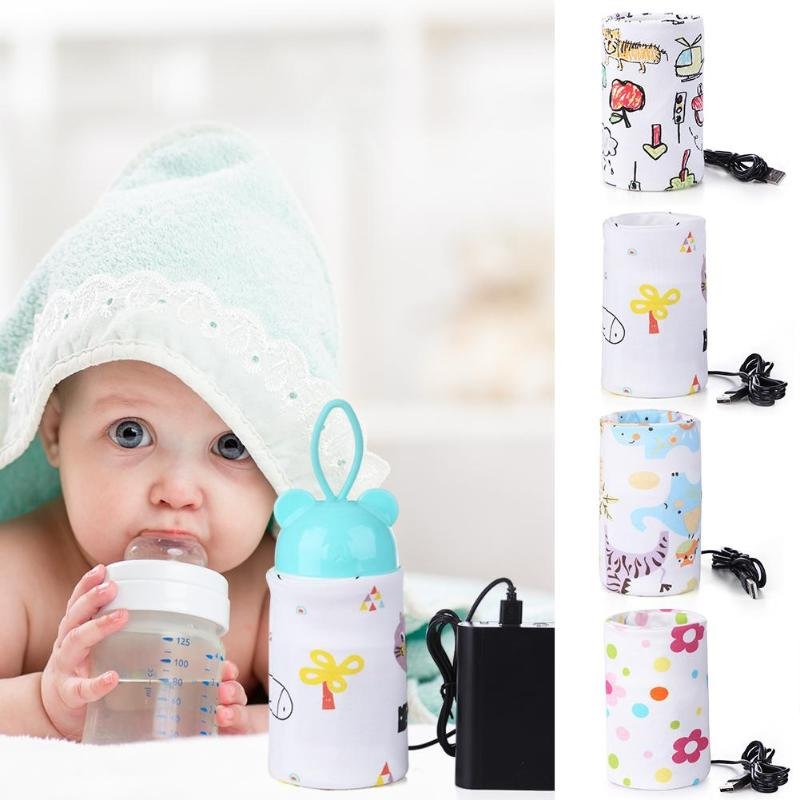 Calentador de biberones de leche para bebés con aislamiento USB, taza de viaje portátil, cuidado de mamá, bolsa térmica, soporte de biberones, calentador de biberones