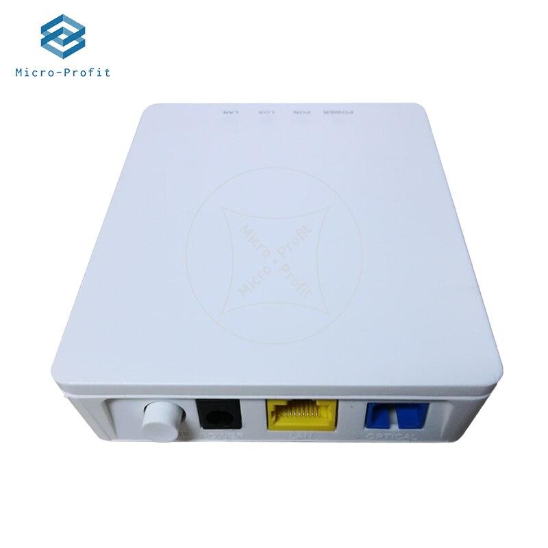 تجديد 10 قطعة ONT ONU XPON الوضع المزدوج 1GE ONU ONT مع منفذ Lan واحد تنطبق على أجهزة المودم FTTH ، إنهاء النسخة الإنجليزية لا الطاقة