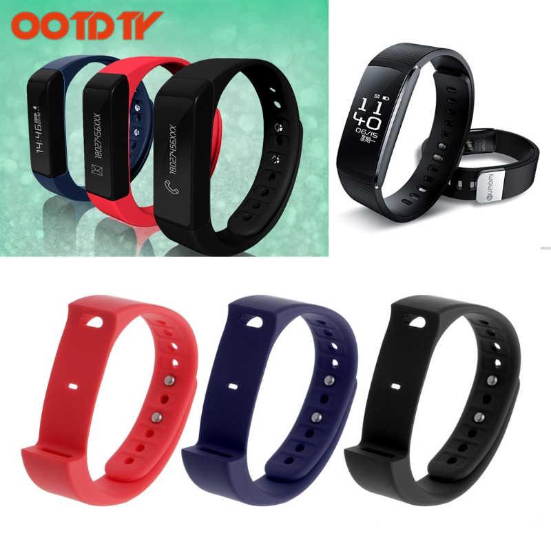 OOTDTY 3 couleurs remplacement Bracelet de sangle de bande de TPU pour Iwown i5 plus sport Bracelet intelligent livraison directe