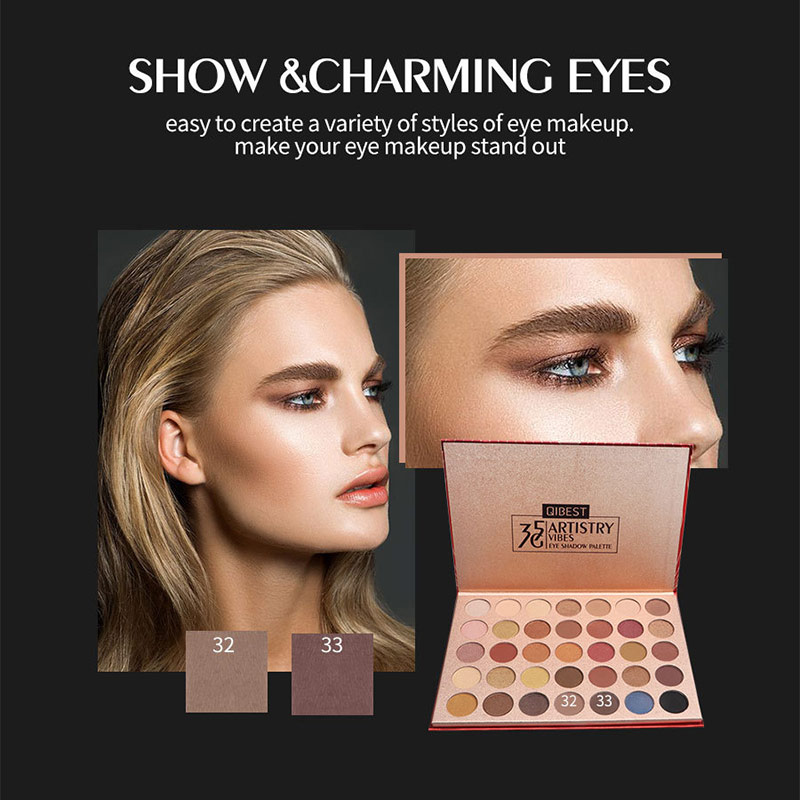 35 Color Star Diamond Eyeshadow Palette Matte Pearlescent Rose Natural Non-Smudge Eye Makeup WomenS Tools