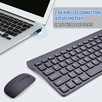 2.4G Wireless Keyboard Mouse Slim DPI Keyboard Mouse Combo Set For Notebook Laptop Mac Desktop windows 10m range