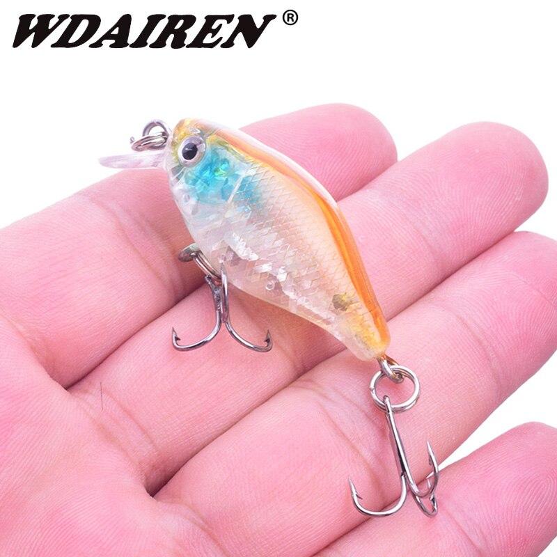 1Pcs Mini Crank Fishing Lure 45mm 4.3g Topwater Fishing Wobblers Artificial Hard Bait Isca Swimbait Crankbait Fishing Tackle