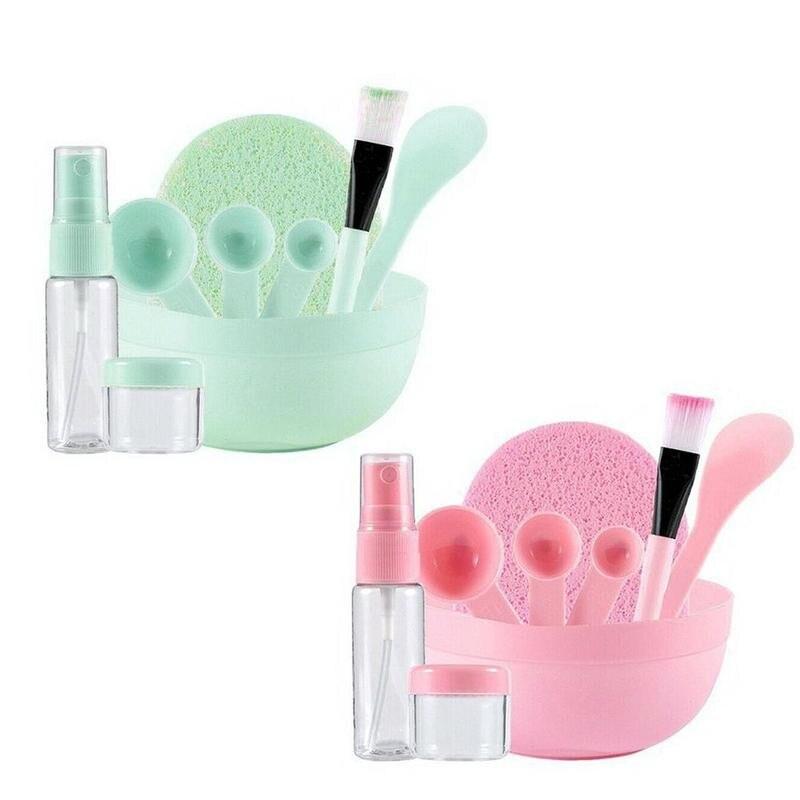 9 unids/set casera Stick botella de Spray botella de cuchara de medición DIY máscara tazón cepillo herramienta de belleza hacer conjunto tazón