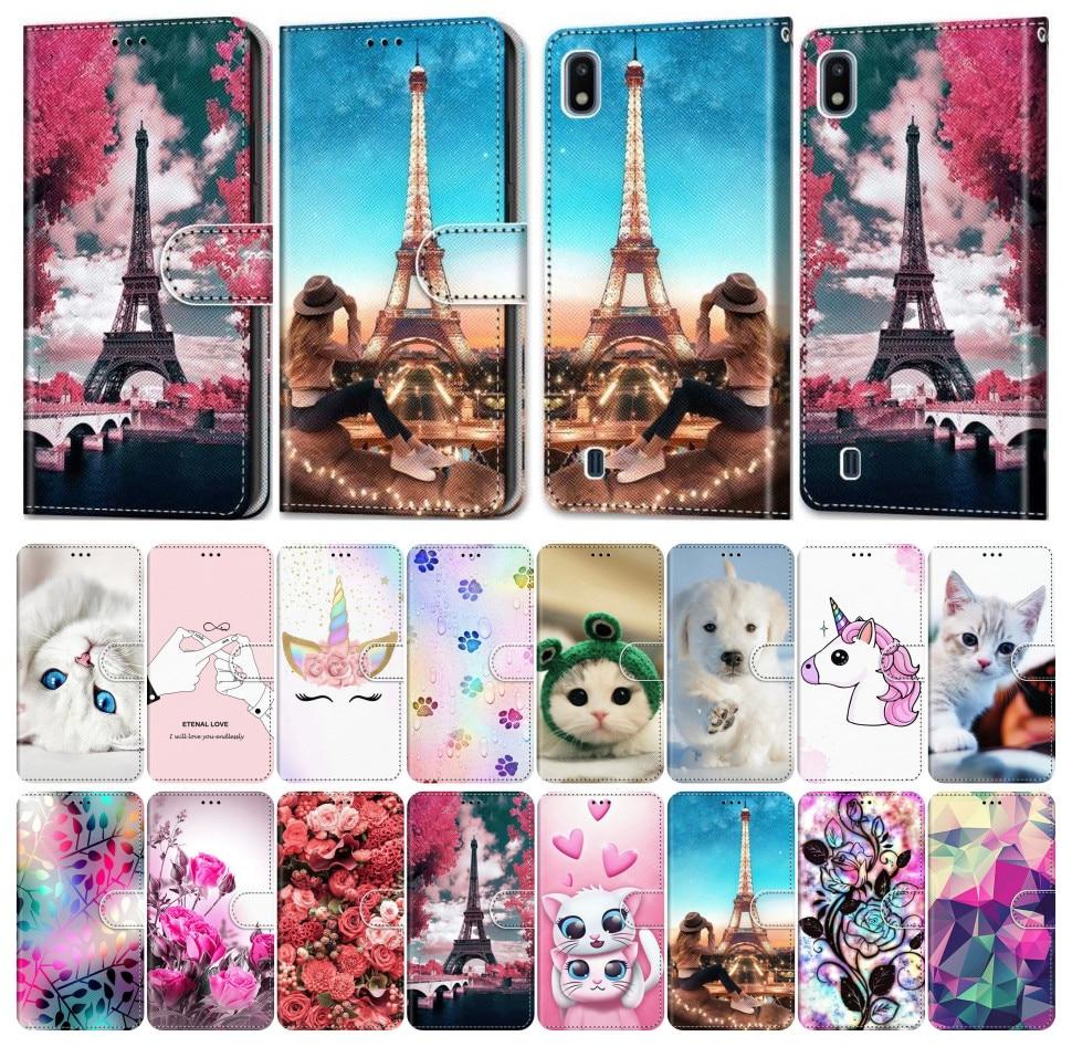 Phone Cover For Sony Xperia 10 L2 L3 PU Leather Flip Phone Case Girl Boy Phone Bags Box Cute Funny Pet Beast Beauty Scenery E08F
