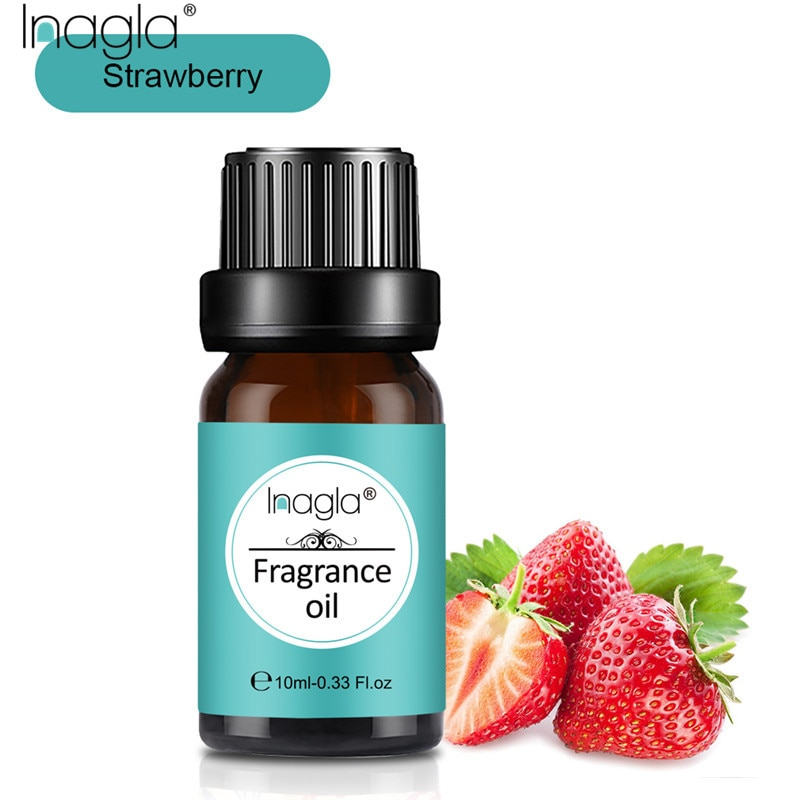 Inagla Strawberry 100% Natural Aromatherapy Fragrance Oil For Aromatherapy Diffusers Massage Relieve