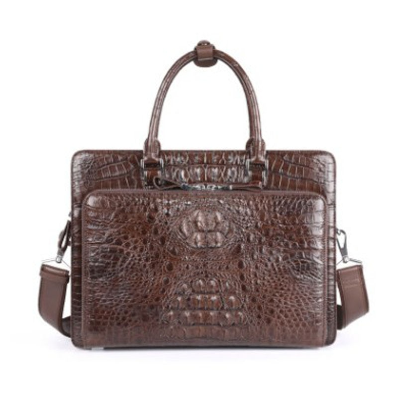 hujingsha Men handbag  Business and leisure  Men shoulder  Cross-body bag briefcase crocodile leather leather man handbag
