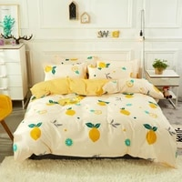 3pcs4pcs fruit orange prints bedding sets soft duvet bed cover comforter flat sheet twin full queen king size free pillowcases