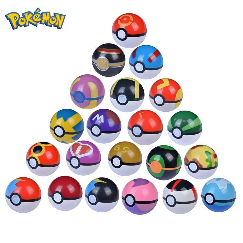 20 Style 6.8 Cm Pet Elf Ball Pokemon Pokeballs With 2-3cm Figures Toys Can Dream Bedroom Furnishings For Children Birthday Gift