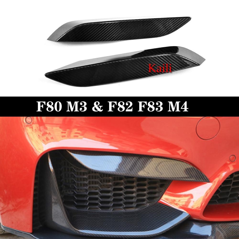 Настоящее углеродное волокно, автомобильный передний бампер, диффузор для губ, верхняя сторона, разделитель, Canards, отделка для губ для F80 M3 F82 ...