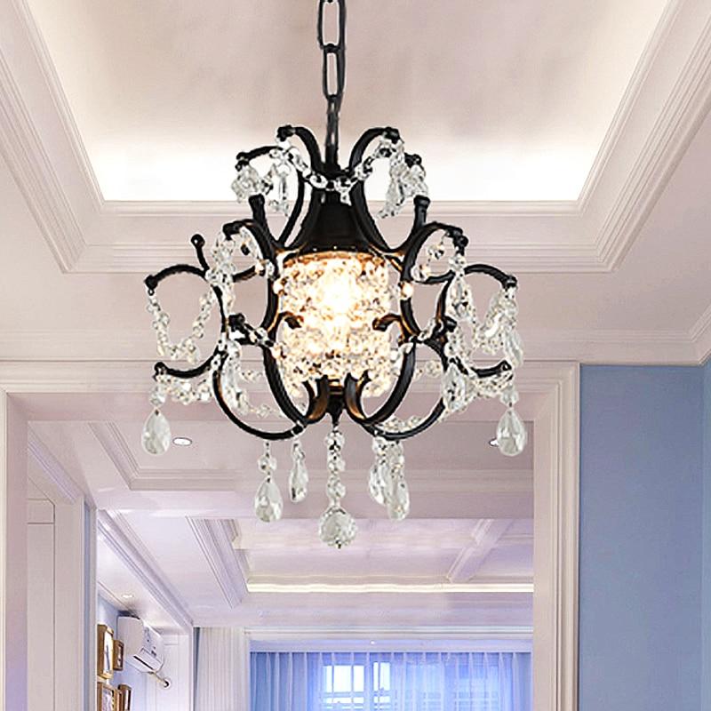 Candelabro De Cristal moderno para Loft, lámpara De Cristal De techo, accesorio...