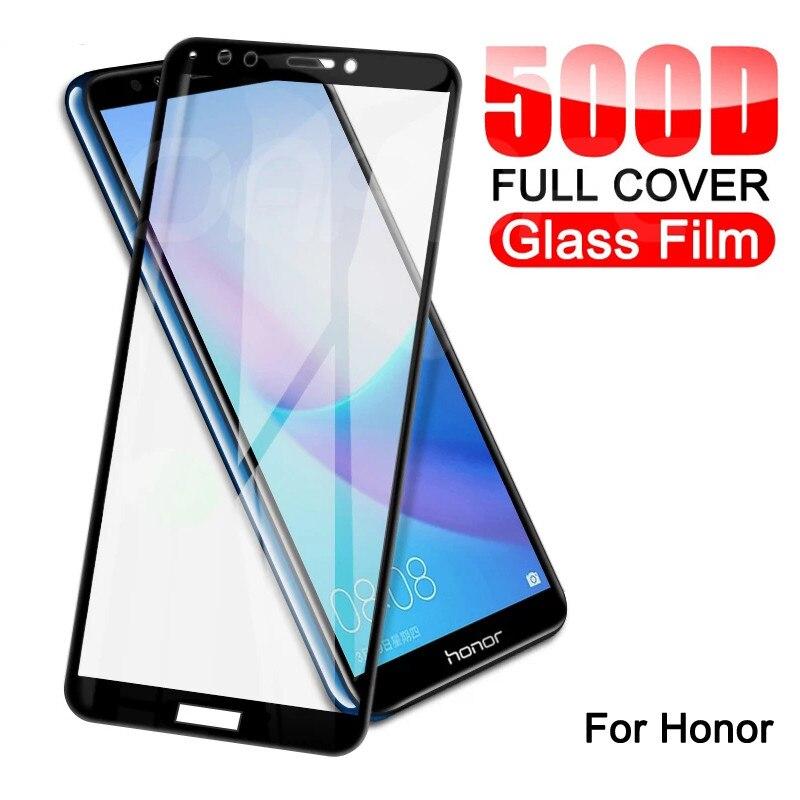 Защитное стекло с полным покрытием 500D для Huawei Honor 8X 8A 8C 8S, закаленное стекло для Honor 7A, 7C, 7X, 7S, 9X, 9A, 9C, 9S Play, защита экрана