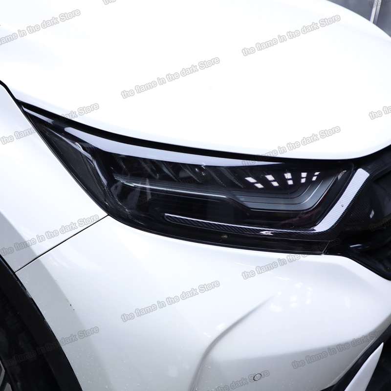 Lsrtw2017 TPU Car Transparent Black Headlight Film Protective Sticker for Honda crv cr-v 2017 2018 2019 2020 5th anti-scratch