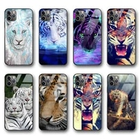 ciciber vogue tiger funda case for iphone 12 case for iphone 12 11 pro xs max mini xr x 7 8 6 6s plus se 2020 tempered glass