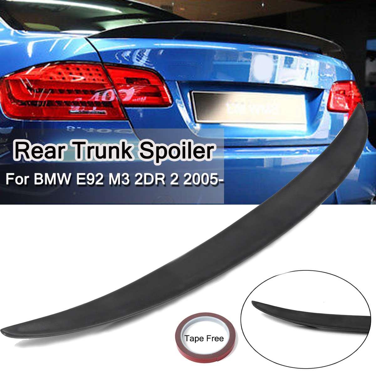 ABS Car Rear Trunk Spoiler Lip Wing Wings Guard Matte Black 9-T-0256 For BMW E92 M3 2DR 2 2005 -