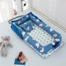 90*50cm pliant bébé nid voyage lit berceau nouveaux-nés lits sommeil nid infantile berceau lit bébé Cuna Portable bébé nid livraison directe