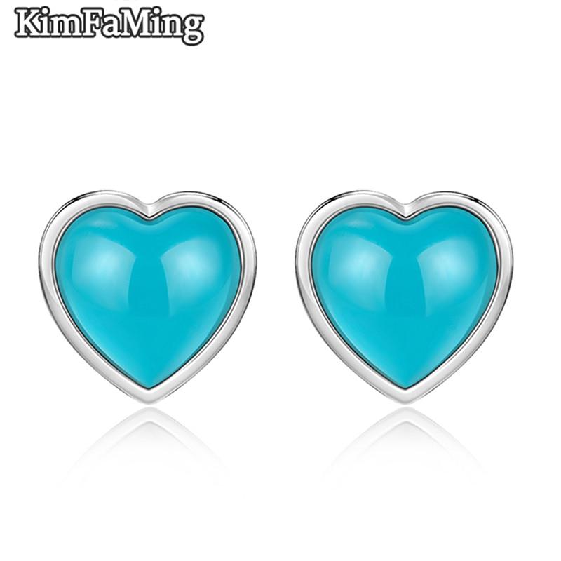 Lovely Heart Cut Gemstone Earrings for Women in Genuine 925 Silver Jewelry Birthday Gift OPST039