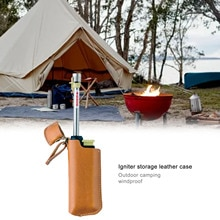 Igniter Holster Outdoor Camping Windproof ทนทาน Igniter เก็บกลางแจ้งเดินป่า PU Telescopic Igniter กระเป๋า