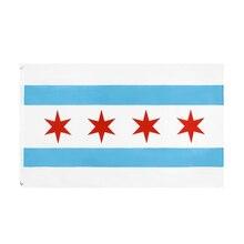 Xxflag 3x5Fts 90X150cm Hanging Usa Us Chicago Flag