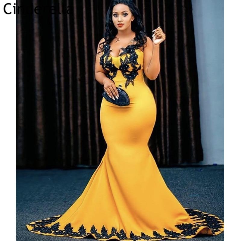 Vestidos de baile de alta qualidade, vestidos de baile com zíper, amarelos, de cetim, com renda, de baile