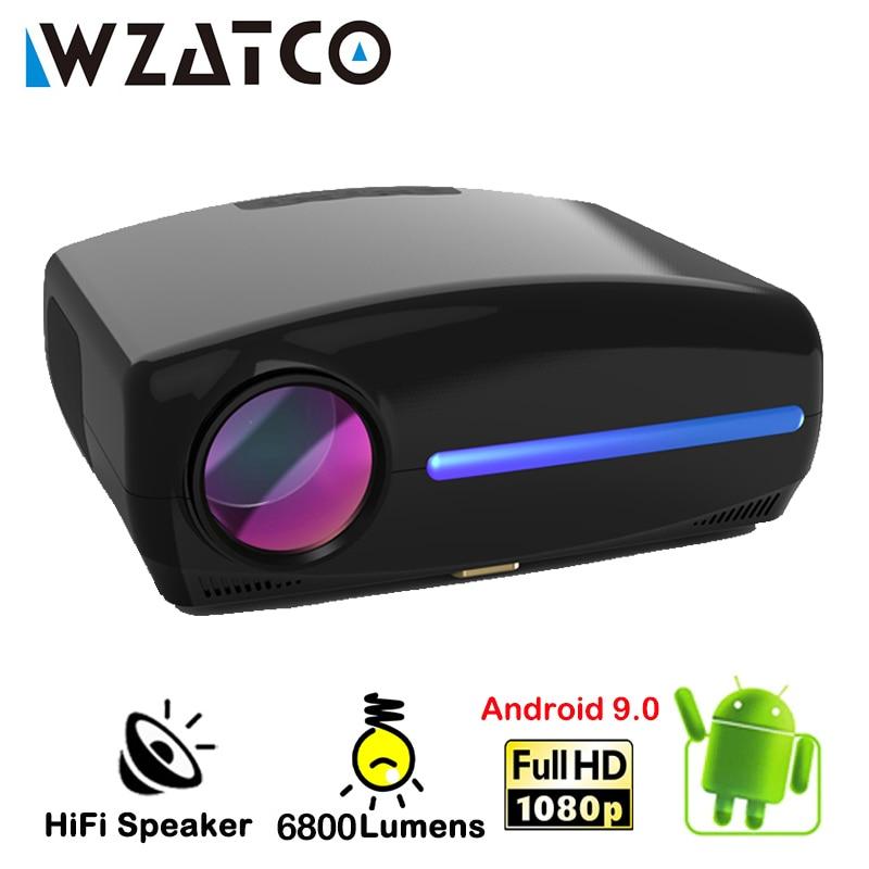 WZATCO C2 رائجة البيع LED Proyector 4K كامل HD 1080P أندرويد 10.0 واي فاي الذكية المسرح المنزلي فيديو المحمولة العارض ثلاثية الأبعاد فيلم متعاطي المخدرات