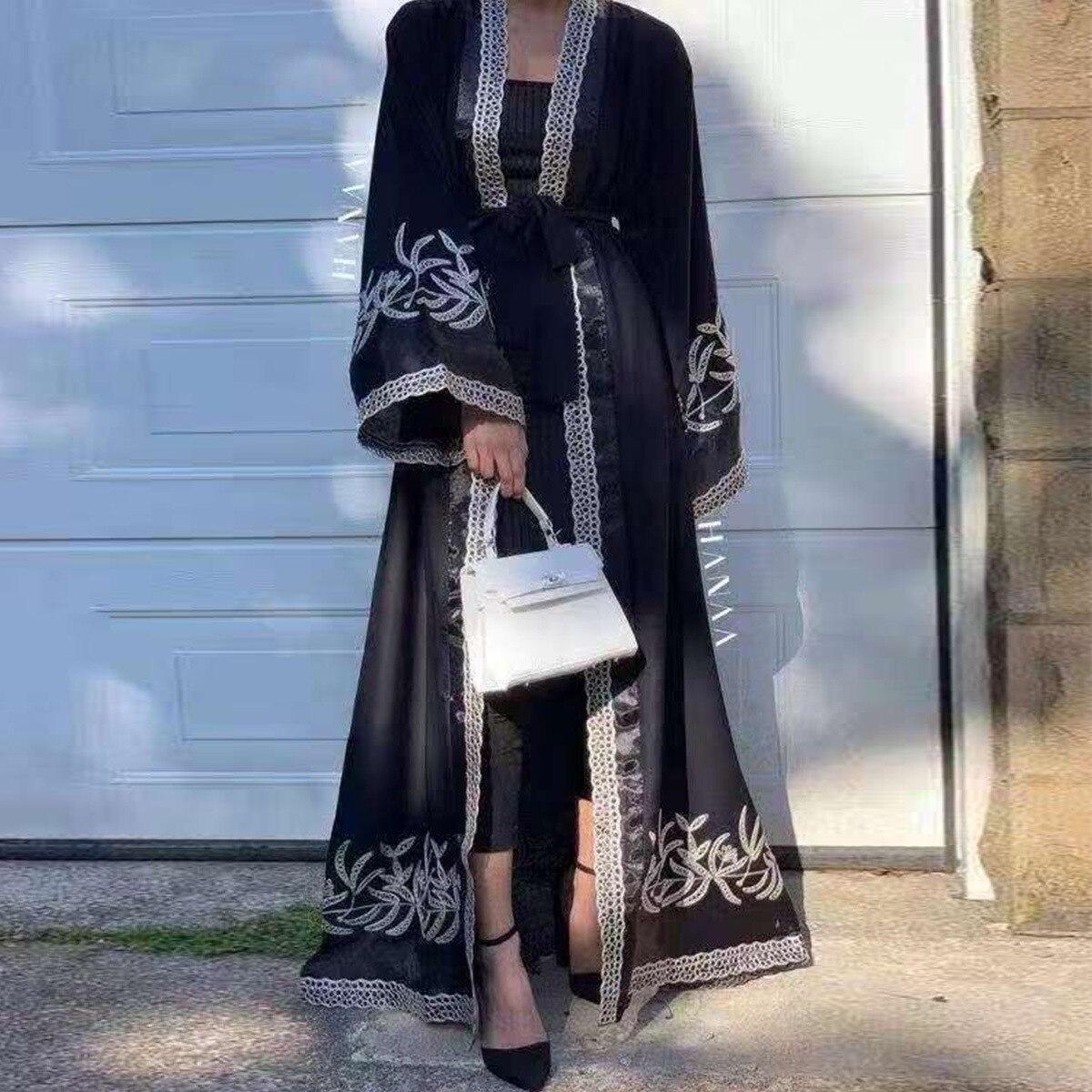 عباية-كارديجان مطرز بالدانتيل للنساء المسلمات ، عباية فاخرة ، مجموعة ربيع 2021 الجديدة