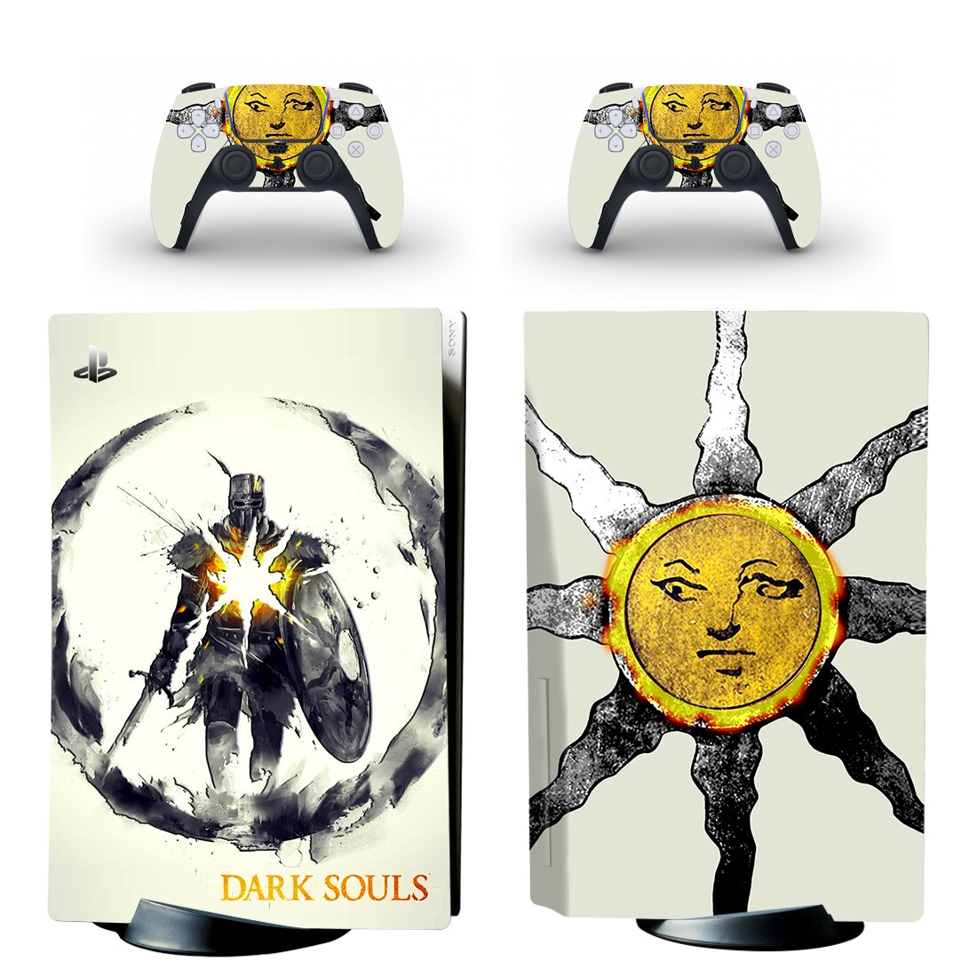 Capa para Playstation Adesivos de Vinil Almas Escuras Padrão Disco Pele Adesivo Decalque 5 Console & Controlador Skins Ps5