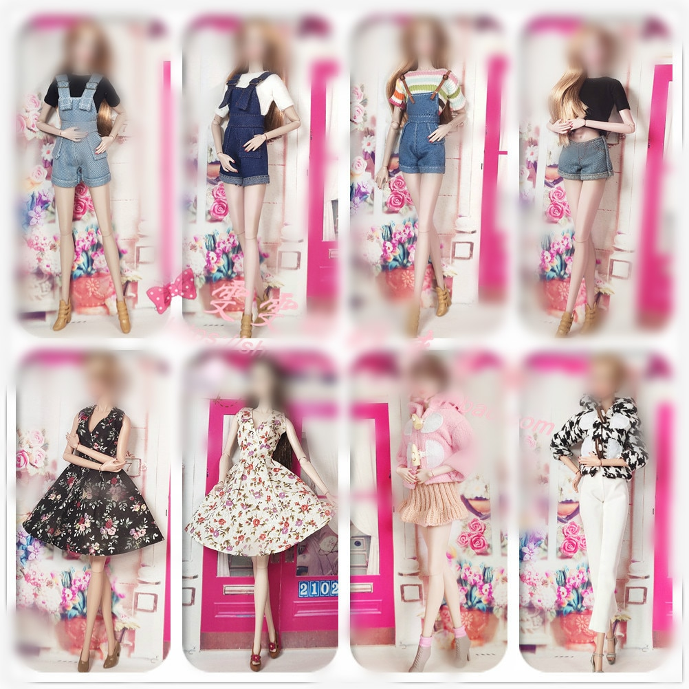 30cm Doll Dress Fashion Clothes suit for licca For Barbie Doll for blythe Accessories Baby Toys Best