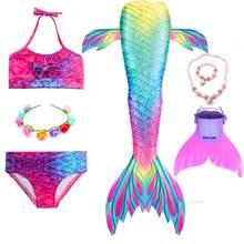 Meisjes Hoofd Krans Mermaid Tail Voor Zwemmen Party Cosplay Badpak Prinses Little Ariel Mermaid Kostuum Tutu Jurk