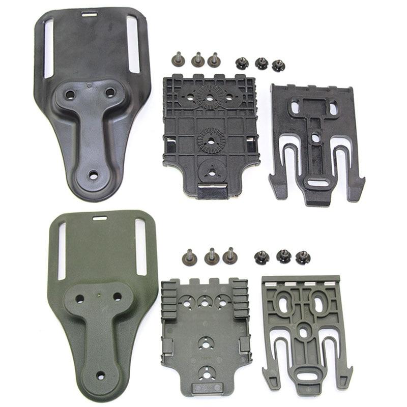 Gun Holster Adapter QLS Quick Locking System Kit for Glock 17 Colt 1911 Beretta M9 Pistol Case Waist Paddle Hunting Accessories