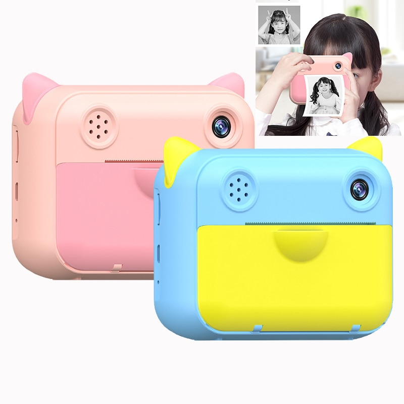 Children Camera instant Print Camera For Kids 1080P HD Digital Camera With Print Photo Paper Child Camera Best Birthday Gifts