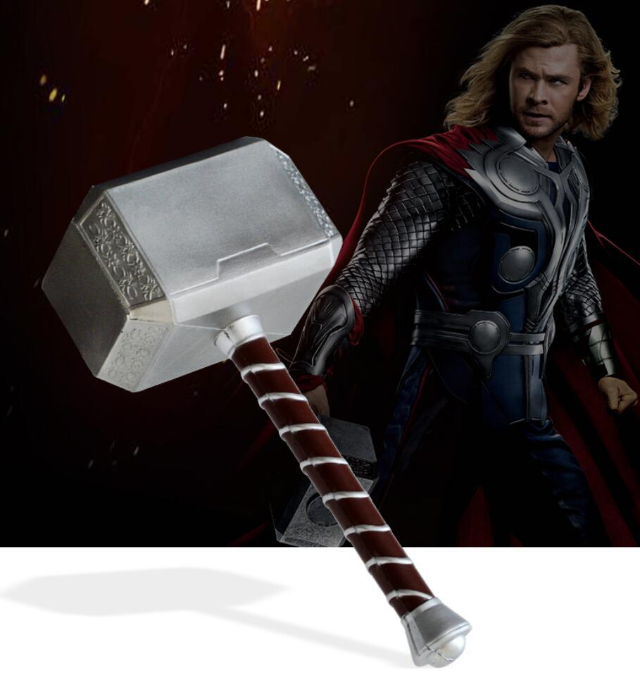 Martillo Cosplay Thor 1:1 44cmThor martillo de tormenta figura armas modelo película juego de rol seguridad PU Material de juguete regalo chico