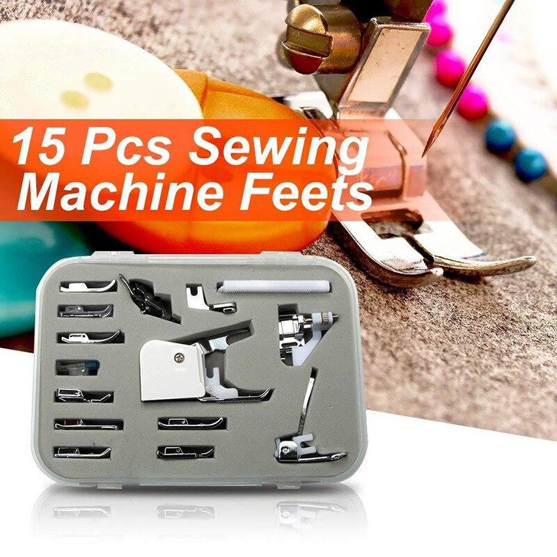 Portáteis para Casa de Artesanato de Costura Máquinas de Costura Acessórios pé Ser88 15 Pçs – Set Pés