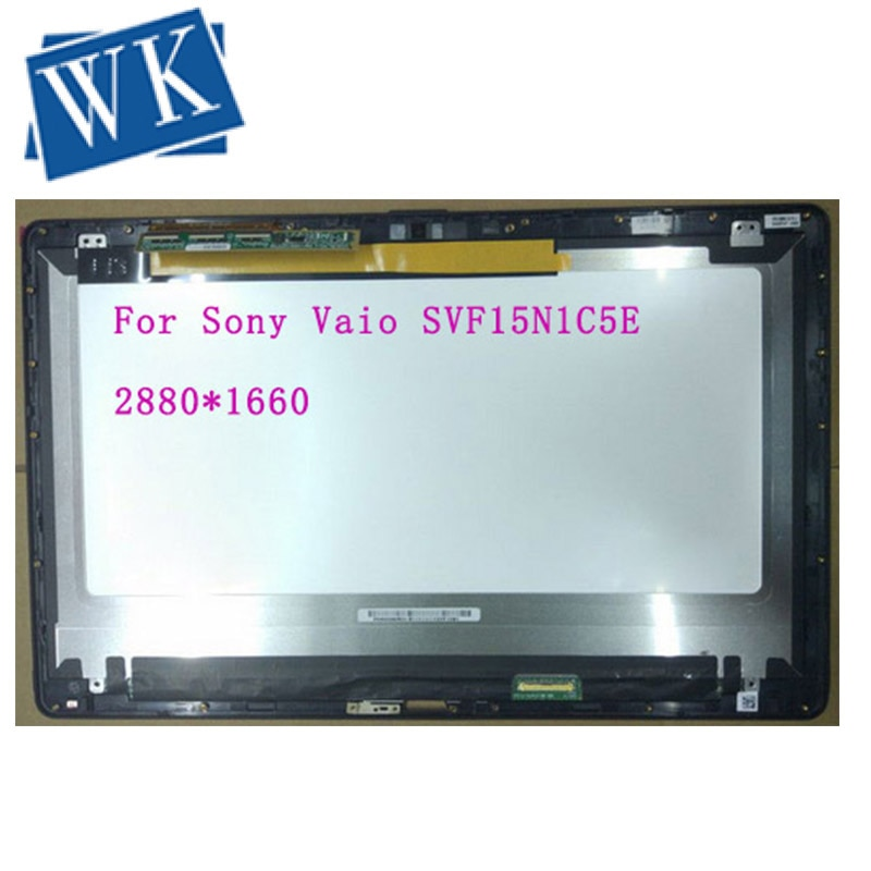 "15,6 ""para Sony Vaio dvf15n1c5e pantalla LCD pantalla LED + digitalizador táctil montaje vvx160t020g00 QHD 2880x1620"